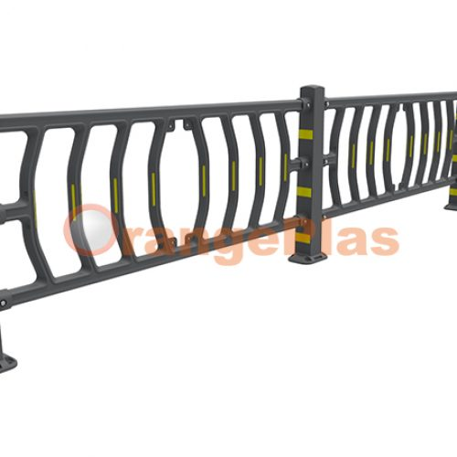 Flexible Guardrail with Panel