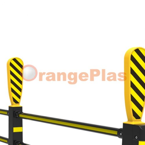 Flexible Guardrail with Beam